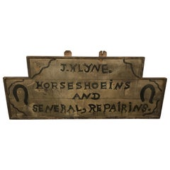 Shop Sign for Horse Shoes, American, Late 19th-Early 20th Century
