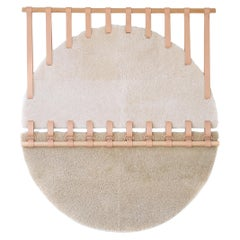 Shoreline Round Shearling Tapestry X by Moses Nadel