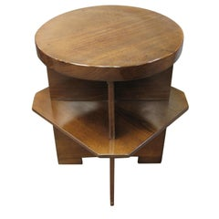 Short and small round Constructivist Table, France, 1930's