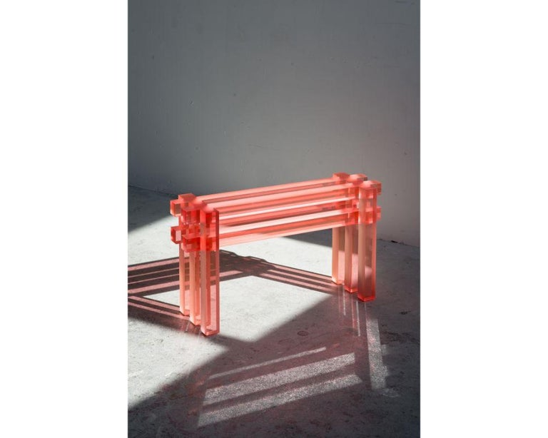 Modern Short Bench by Laurids Gallée For Sale