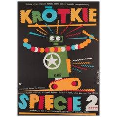 Short Circuit 2 1989 Polish Film Movie Poster, Erol