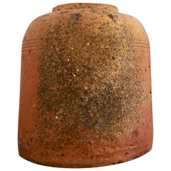 Short English Terracotta Kale Forcer Pot with Lovely Patina