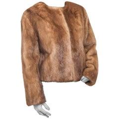 Short Jacket In Tawny Mink Choker