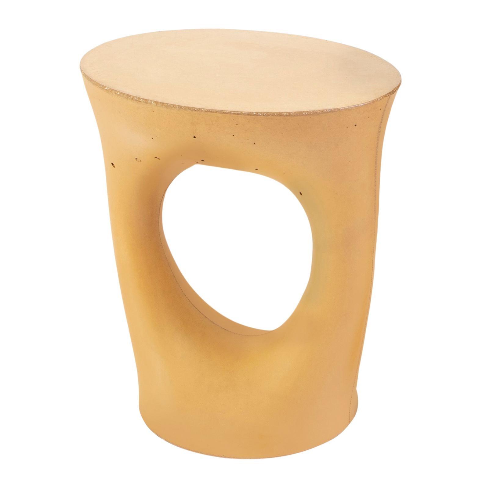 Short Mustard Kreten Side Table from Souda, Made to Order