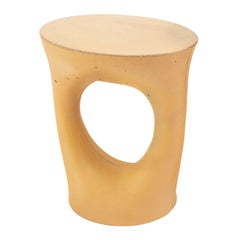 Short Mustard Kreten Side Table from Souda, Made to Order