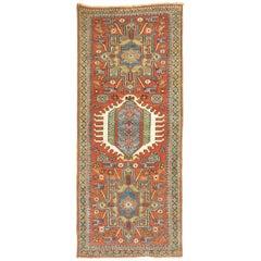Short Persian Heriz Runner