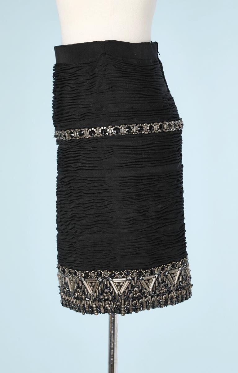 Short skirt embroidered Atelier Versace In Excellent Condition For Sale In Saint-Ouen-Sur-Seine, FR