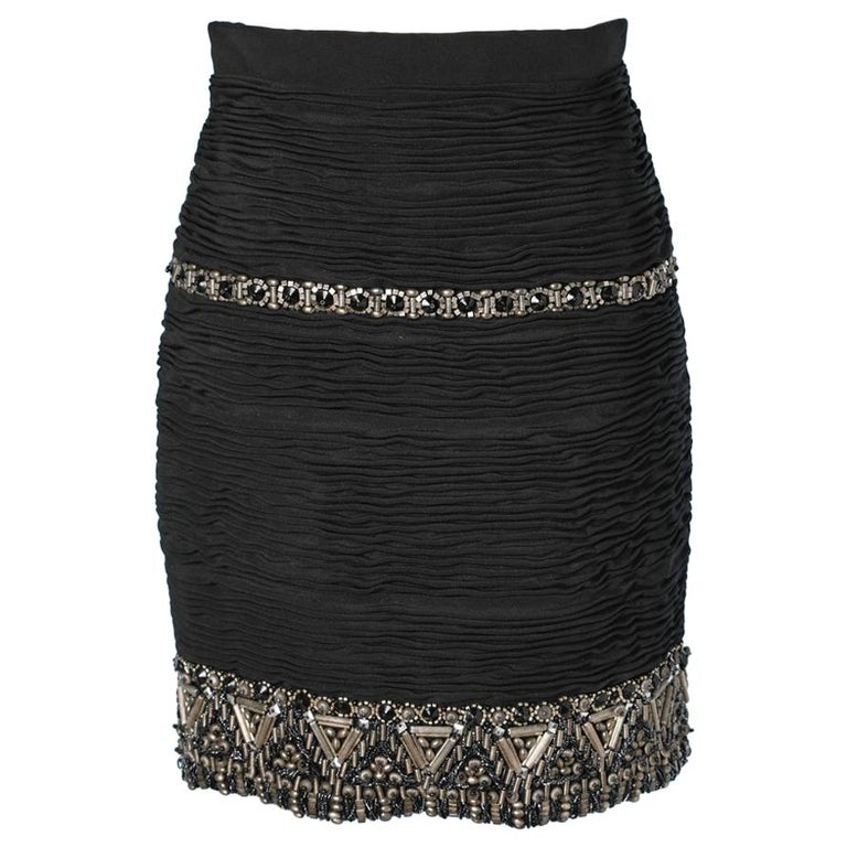 Short skirt embroidered Atelier Versace For Sale