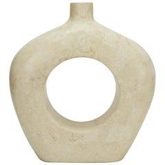 "Short Tessellated Stone ""O"" Vase, 1990s"
