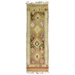 Short Vintage Turkish Kilim Runner