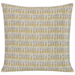 Shortstack Pillow in Yellow and Gray by CuratedKravet