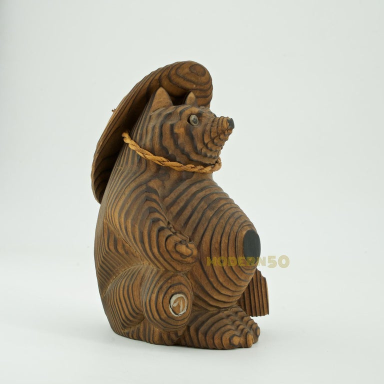 Tanuki or Neoguri (raccoon dog) is Native East Asian. Cool traveller's souvenir or gift.