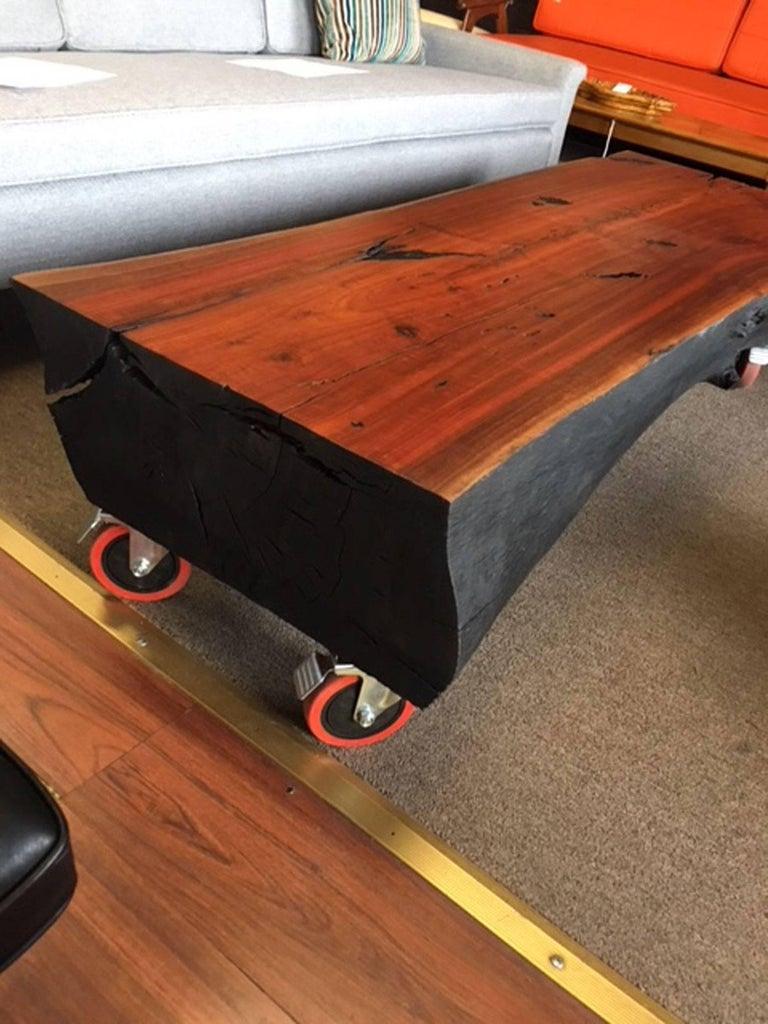 Shou Sugi Ban Eucalyptus Wood Coffee Table For Sale At 1stdibs