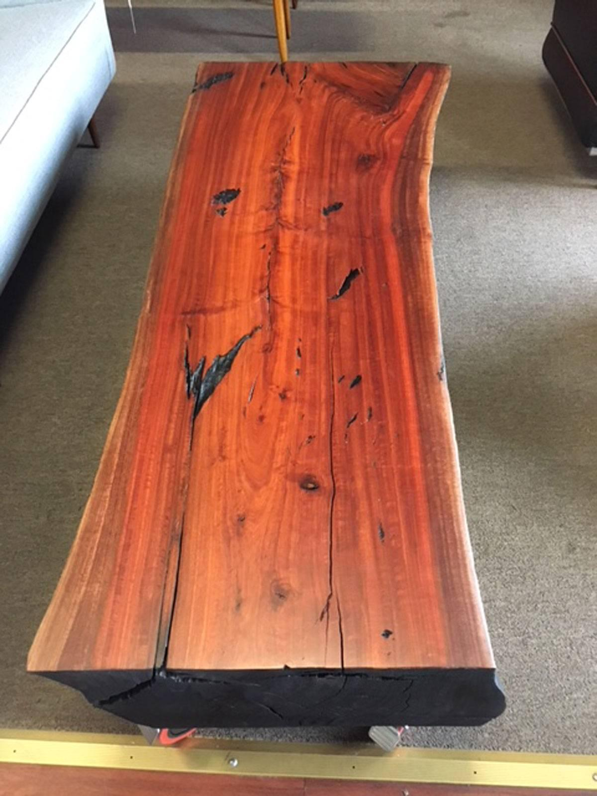 Shou Sugi Ban Eucalyptus Wood Coffee Table For Sale At 1stdibs