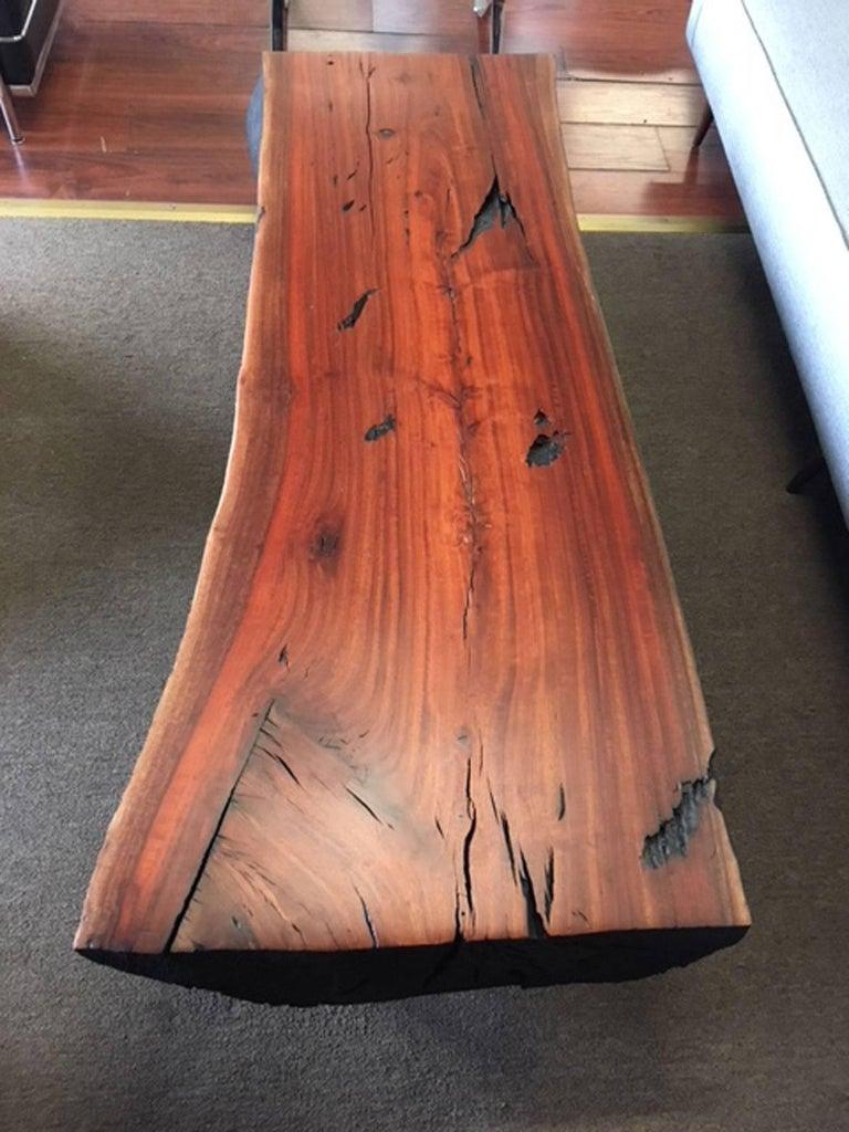 Shou sugi ban eucalyptus wood coffee table for sale 3