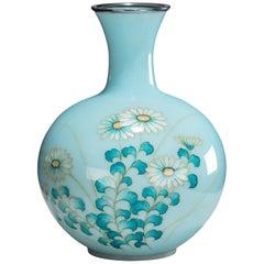 Showa Period Gin-Bari Cloisonné Vase by Tamura