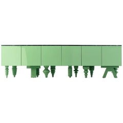 Showtime Cabinet in Green Patrizia Marble