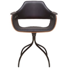 Showtime Chair, Swivel Base, Diamond Stitching Black