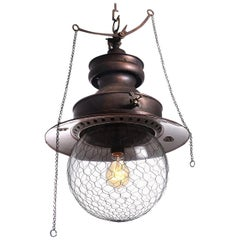 Showy Electrified Copper Gas Lamp