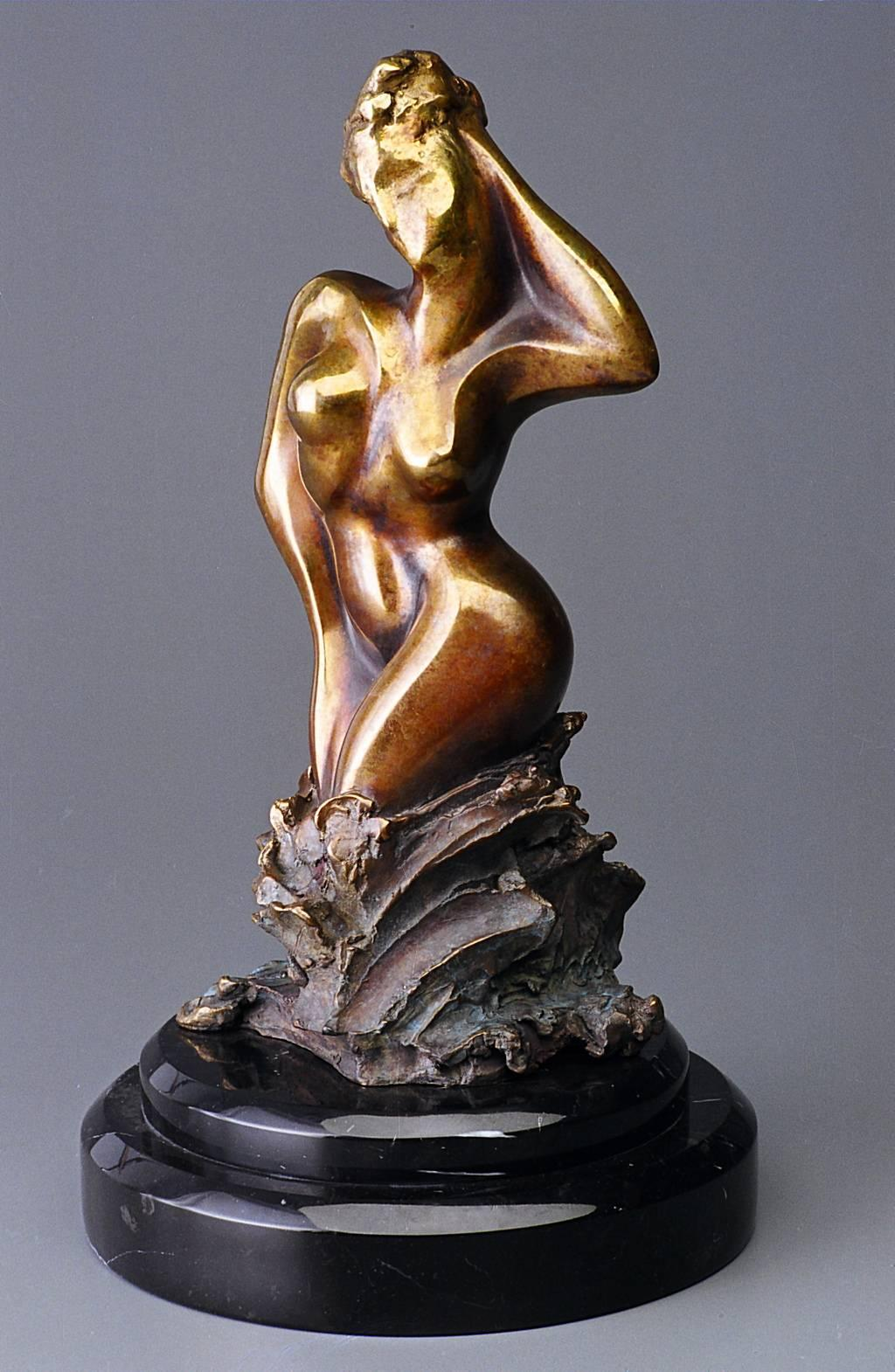 Aphrodite by Shray, Bronze Abstract Sculpture, Contemporary Sculpture