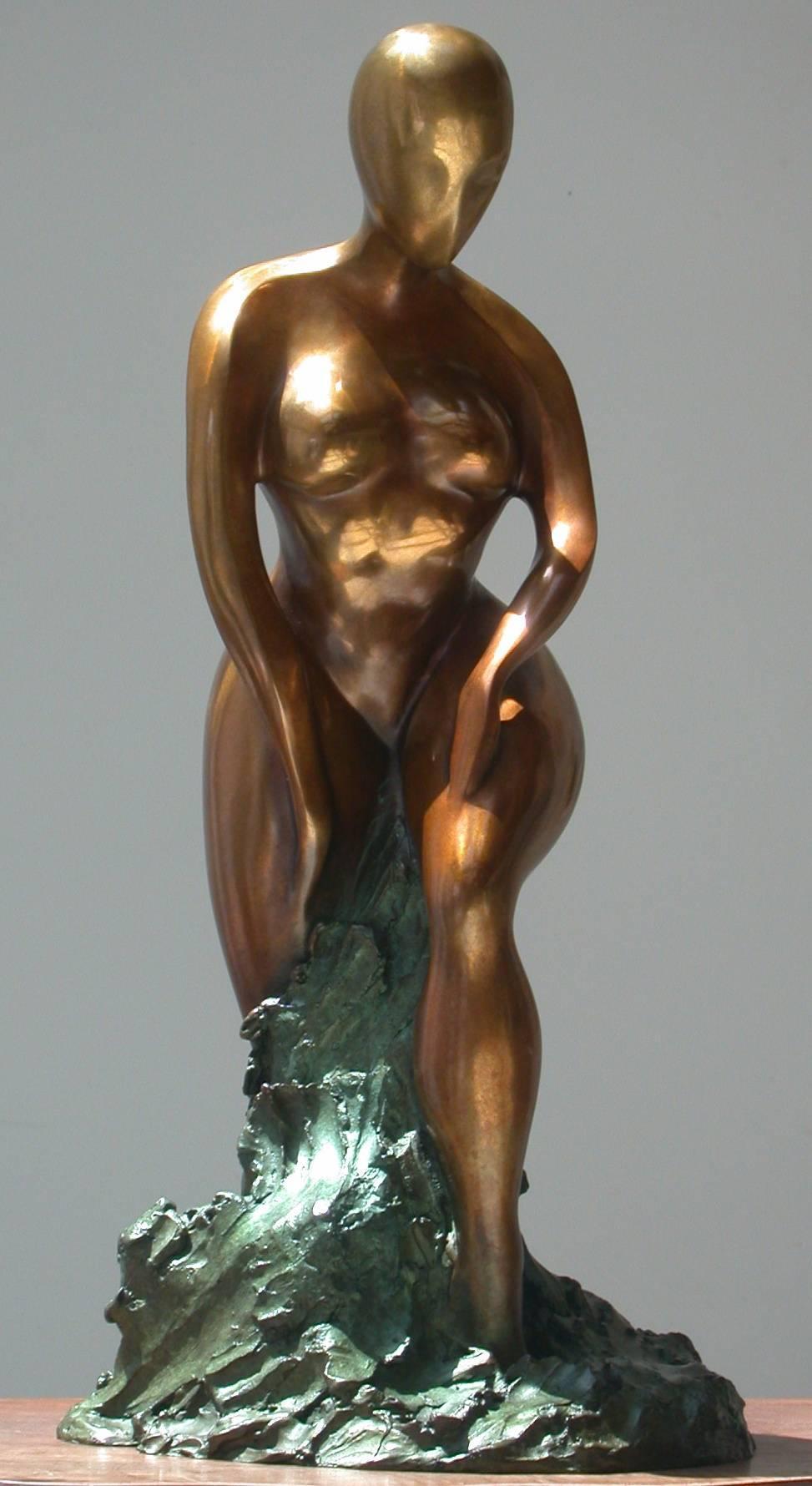 Trepidation by Shray, Bronze Figurative Sculpture, Contemporary Sculpture
