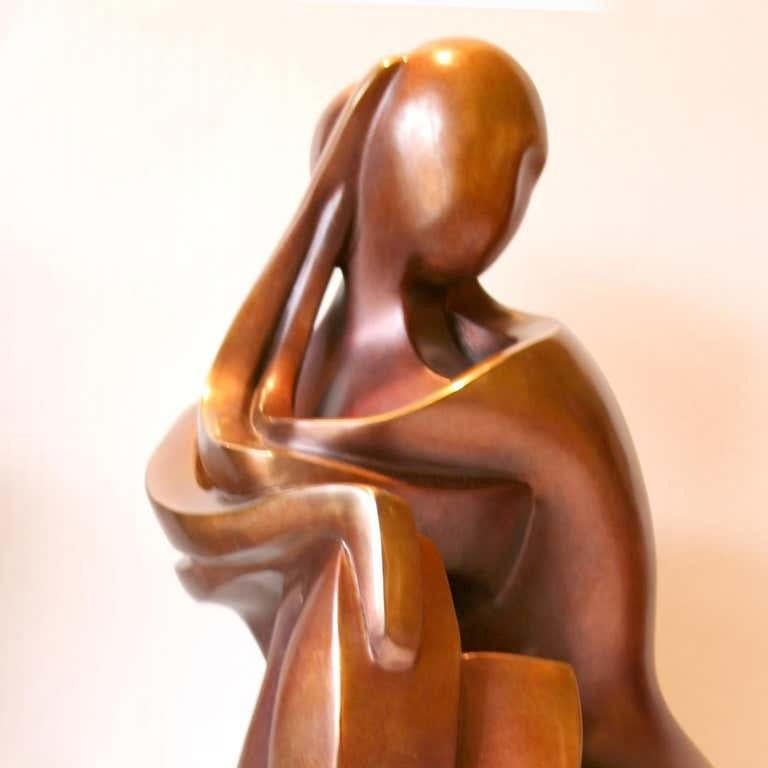 You & Me by Shray, Bronze Figurative Sculpture For Sale 2