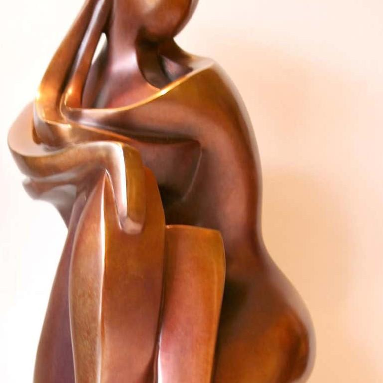 You & Me by Shray, Bronze Figurative Sculpture For Sale 3