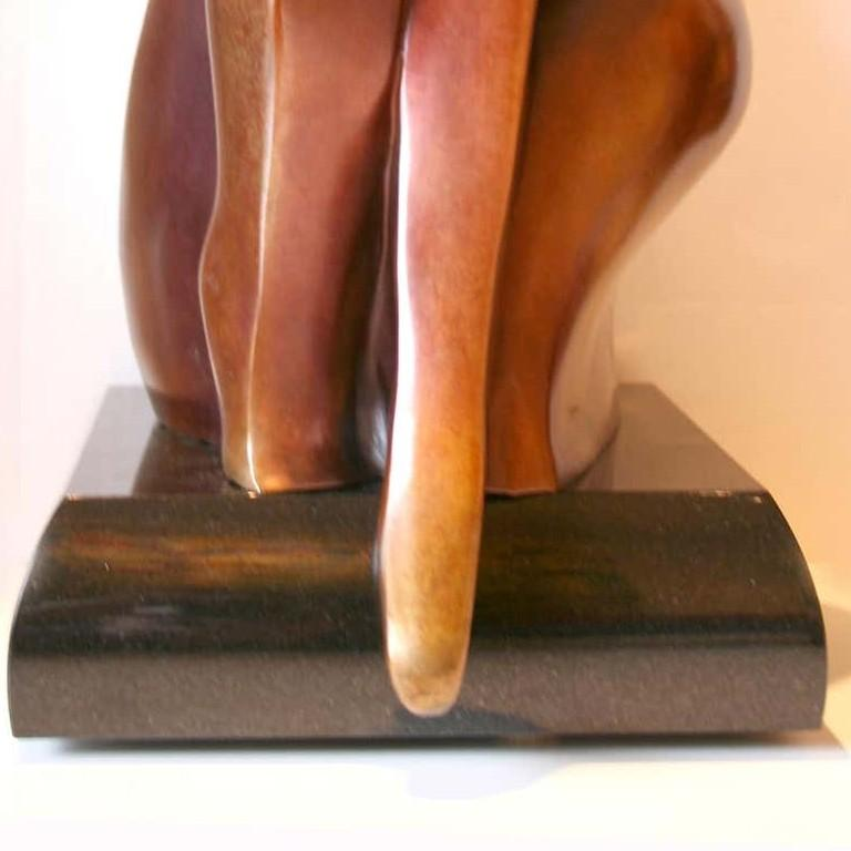 You & Me by Shray, Bronze Figurative Sculpture For Sale 5