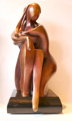 You & Me by Shray, Bronze Figurative Sculpture