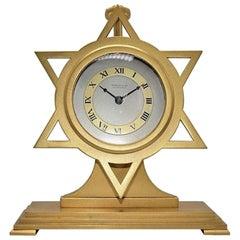 Shreve & Co. Art Deco Star of David Desk Clock, circa 1940s