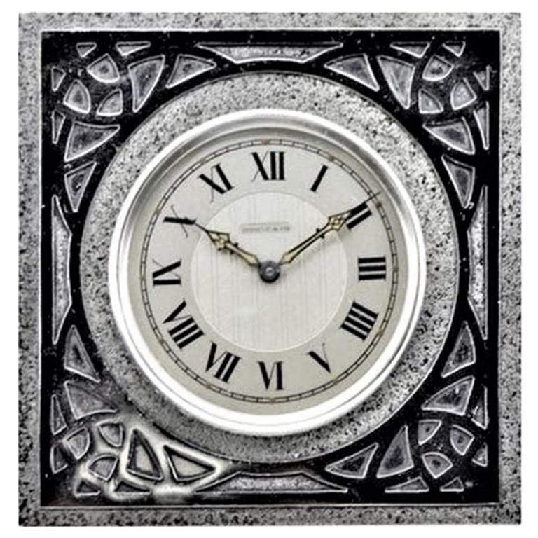 Shreve & Co. Arts & Crafts Style Table Clock, circa 1915