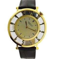 Shreve & Co by Waltham Yellow Gold Art Deco Pocket Manual Wristwatch, c1935
