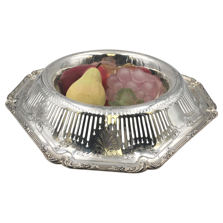 Shreve & Co Sterling Silver Large Centerpiece Fruit Bowl