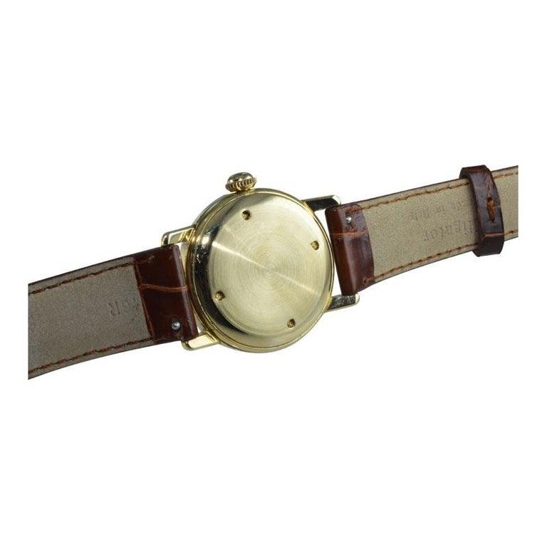 Shreve & Co. Yellow Gold Angelus Screw Back Manual Watch, circa 1950s 3