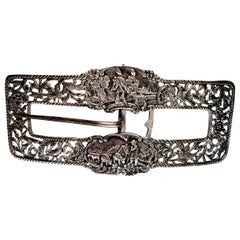 Shreve Crump and Low Sterling Silver Large Belt Buckle