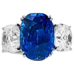 "Shreve, Crump & Low 10.88 Carat ""Jewel of Kashmir"" Sapphire and Diamond Ring"