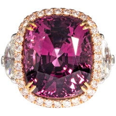 Shreve, Crump & Low 15.38 Carat Burmese Pink Spinel and Diamond Ring 'Dungaire'