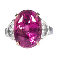 Shreve, Crump & Low 16.95 Carat Pink Sapphire Sapphire and Diamond Platinum Ring