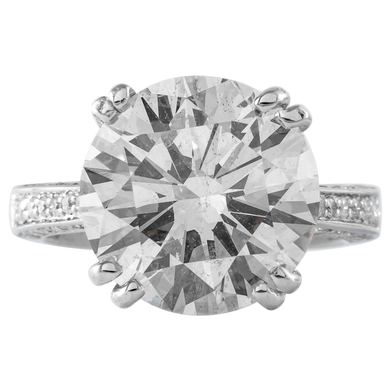 Shreve, Crump & Low 8.3 Carat J SI2 Round Brilliant Cut Diamond Ring