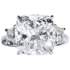 Shreve, Crump & Low GIA Certified 10.01 Carat G SI1 Cushion Cut Diamond Ring