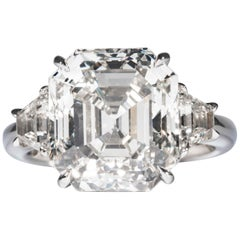 Shreve, Crump & Low GIA Certified 10.04 Carat L VS1 Asscher Cut Diamond Ring