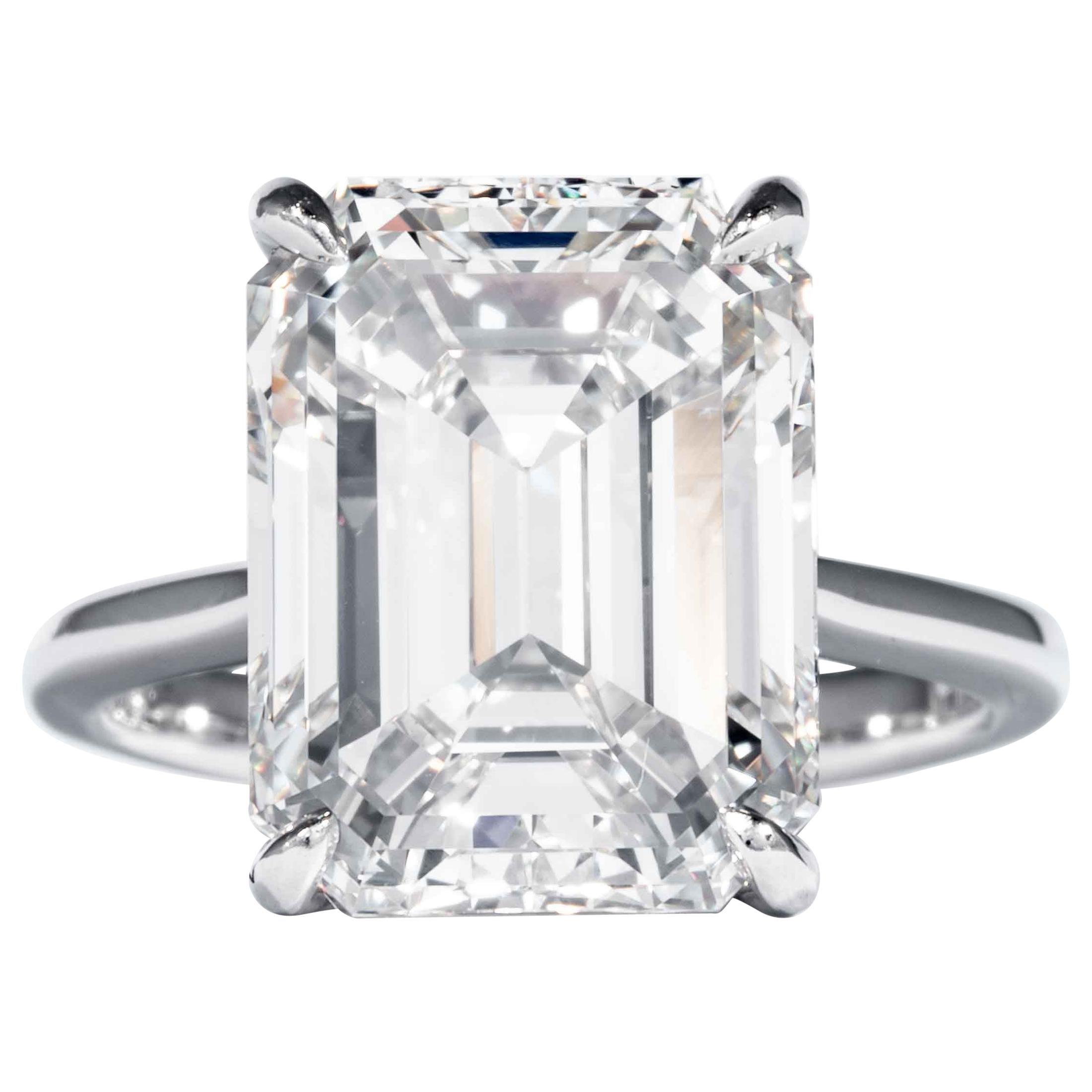 Shreve, Crump & Low GIA Certified 10.21 Carat K VVS2 Emerald Cut Diamond Ring