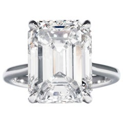 Shreve, Crump & Low GIA Certified 10.21 Carat K VVS2 Emerald Cut Diamond Ring