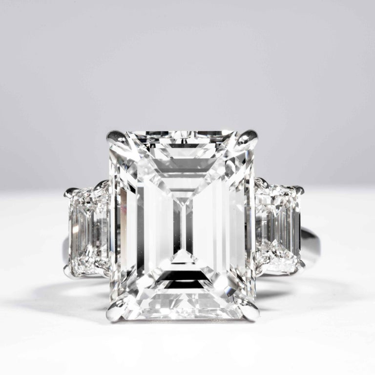 Shreve, Crump & Low GIA Certified 10.75 Carat K VS2 Emerald Cut Diamond Ring In New Condition For Sale In Boston, MA