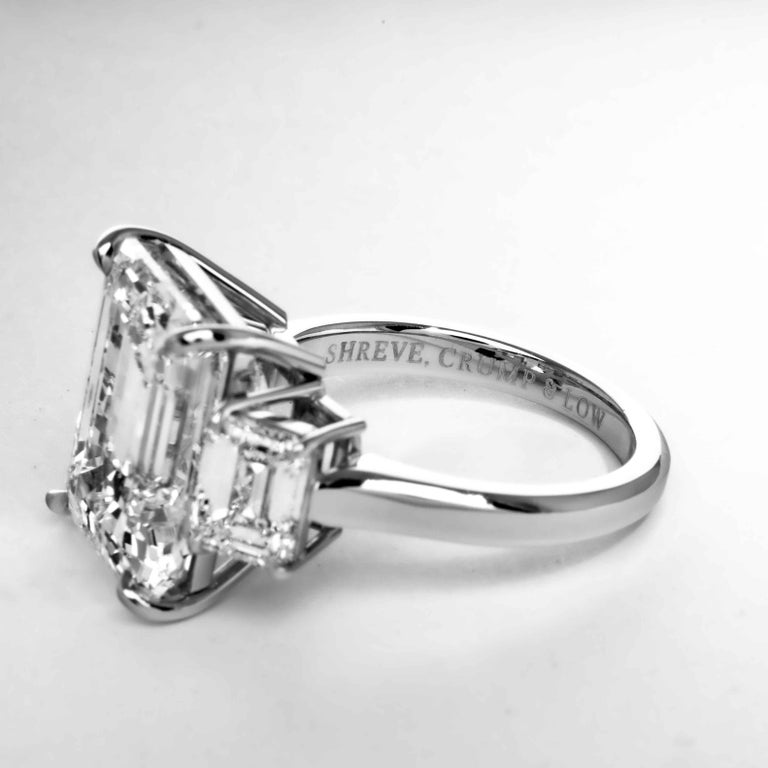 Shreve, Crump & Low GIA Certified 10.75 Carat K VS2 Emerald Cut Diamond Ring For Sale 1