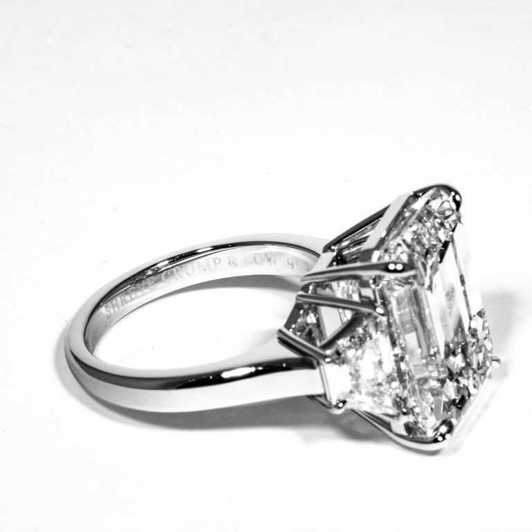 Shreve, Crump & Low GIA Certified 13.26 Carat K VS2 Emerald Cut Diamond Ring For Sale 2