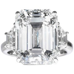 Shreve, Crump & Low GIA Certified 13.26 Carat K VS2 Emerald Cut Diamond Ring