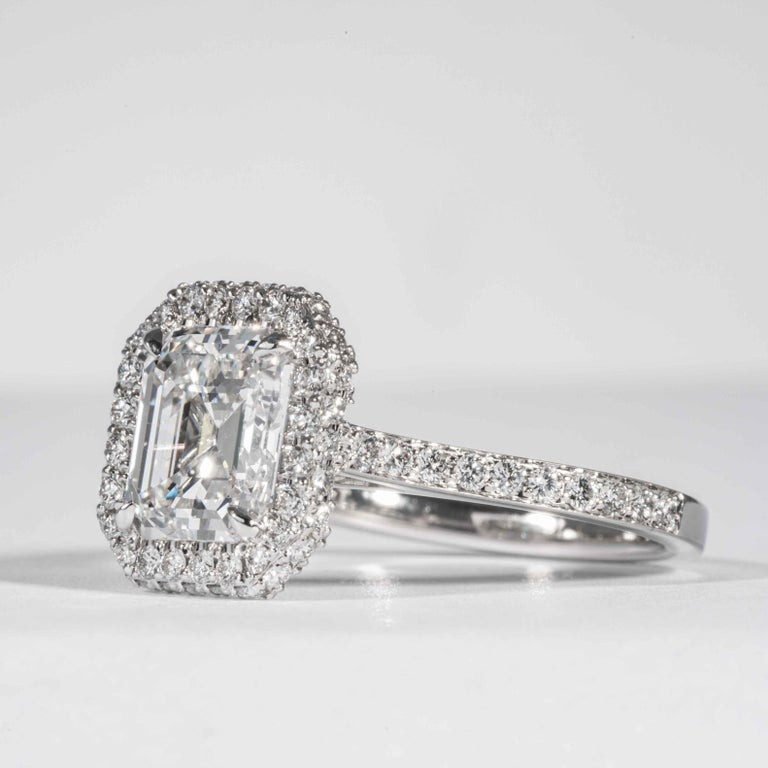 Shreve, Crump & Low GIA Certified 2.74 Carat E SI1 Emerald Cut Diamond Ring In New Condition For Sale In Boston, MA