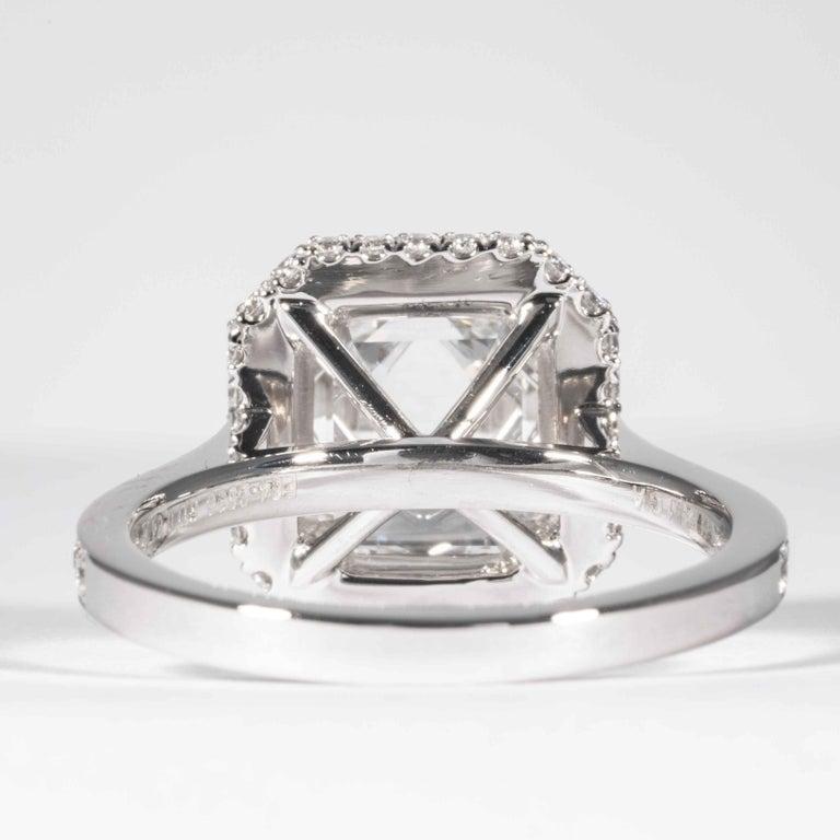 Shreve, Crump & Low GIA Certified 2.74 Carat E SI1 Emerald Cut Diamond Ring For Sale 1