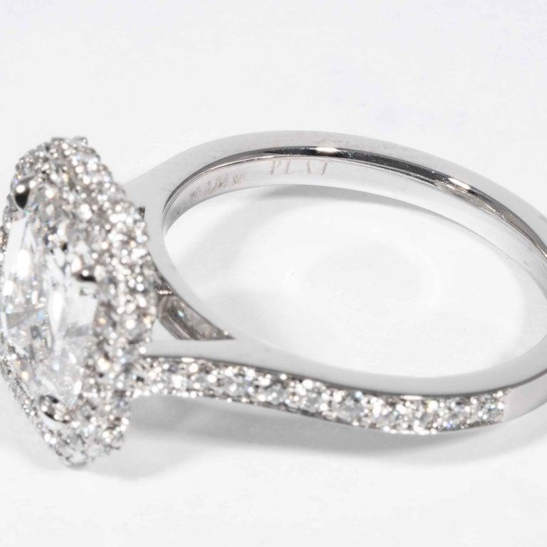 Shreve, Crump & Low GIA Certified 2.74 Carat E SI1 Emerald Cut Diamond Ring For Sale 2
